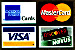 We Accept Visa, Master Card, American Express and Discover